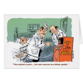 Paciente quirúrgico con la tarjeta baja de la