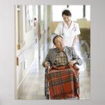 Paciente y enfermera póster