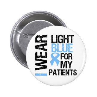 Pacientes azules claros de la cinta del cáncer de pin redondo de 2 pulgadas