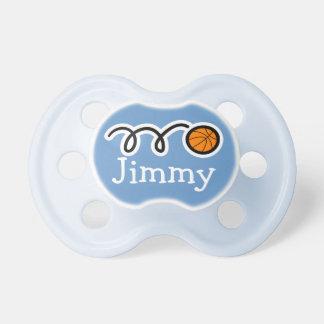 Pacifer del baloncesto con binky simulado del nomb chupetes de bebé