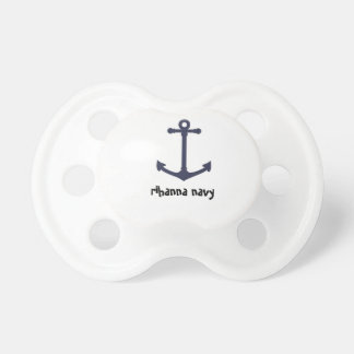 pacifer del bebé de la marina de guerra del rihann chupetes de bebe
