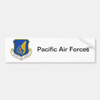 Pacific Air Forces Insignia Car Bumper Sticker