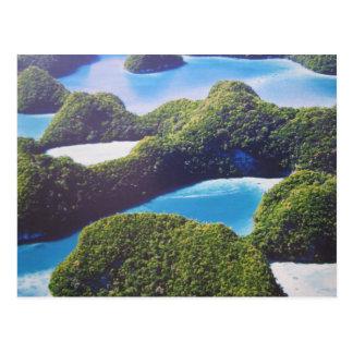 Pacific atoll Palau postcard