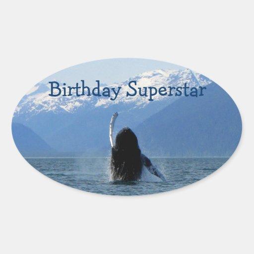 Pacific Ballet; Happy Birthday Oval Sticker