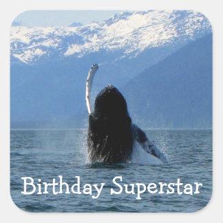 Pacific Ballet; Happy Birthday Square Sticker
