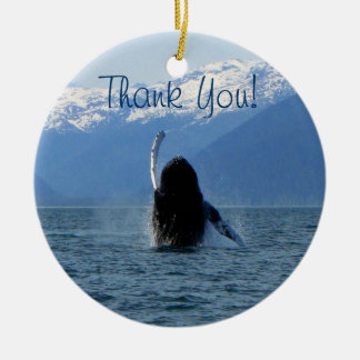 Pacific Ballet; Thank You Ceramic Ornament