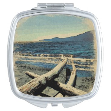 Beach Themed Pacific Beach Compact Mirror