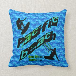 Pacific Beach, San Diego Throw Pillow