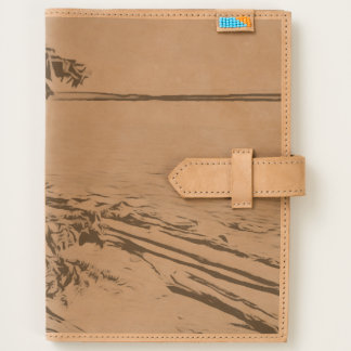 Pacific Beach woodblock style Journal