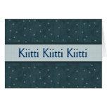 PACIFIC BLUE - Kiitti with Stars Greeting Card