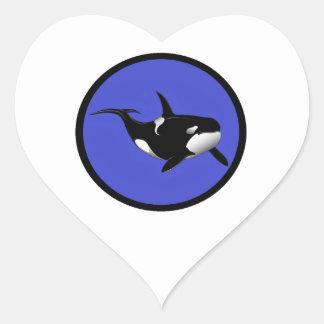 PACIFIC BLUE ORCA HEART STICKER