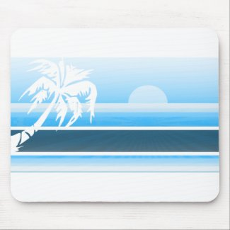 Pacific Blue Tropical Sunset mousepad