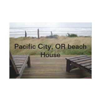 Pacific City, OR Beach house Canvas Prints