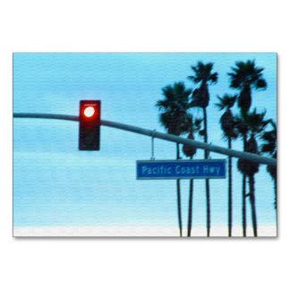 Pacific Coast Highway 1 Sign California Beach Sky Card