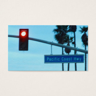 Pacific Coast Highway 1 Sign | Huntington Beach CA Business Card