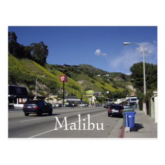 Pacific Coast Highway Malibu California Postcard