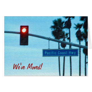 Pacific Coast Highway Sign California Beach Sky Stationery Note Card
