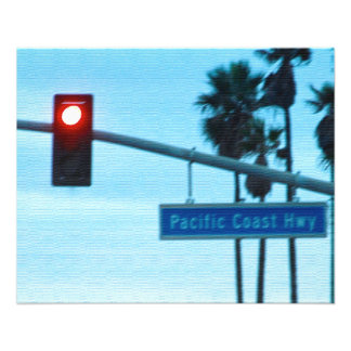 Pacific Coast Highway Sign California Beach Sky Flyer
