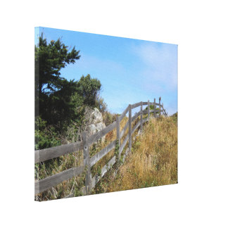 Pacific Coast Inland Scenery Wrapped Canvas Print