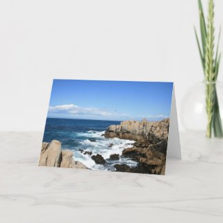 Pacific Coast Seascape, Blank Note Card