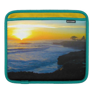 Pacific Coast Sunset Rickshaw iPad Sleeve