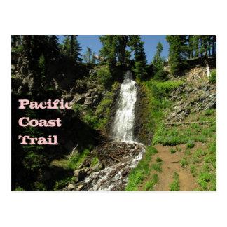 Pacific Coast Trail Waterfall Postcard