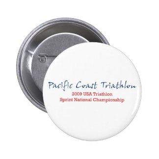 Pacific Coast Triathlon 2 Inch Round Button