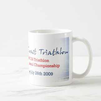Pacific Coast Triathlon Classic White Coffee Mug