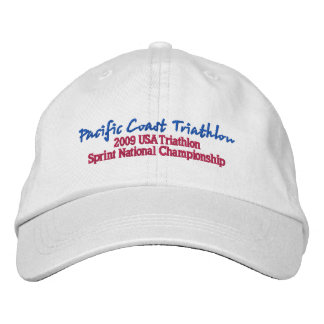 Pacific Coast Triathlon Embroidered Baseball Caps