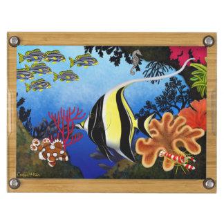 Pacific Coral Reef Fish Cheese Board Rectangular Cheeseboard