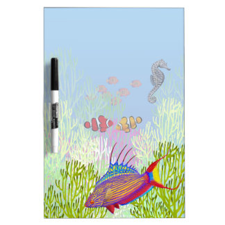 Pacific Coral Reef Fish Dry Erase Board
