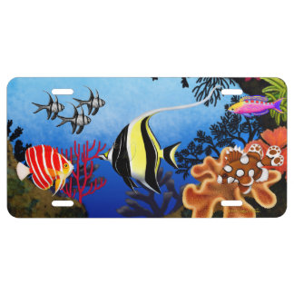Pacific Coral Reef Fish License Plate Cover