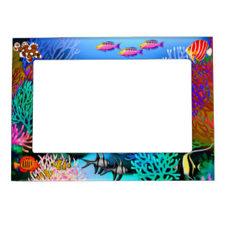 Pacific Coral Reef Fish Magnetic Frame