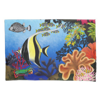 Pacific Coral Reef Fish Pillowcase