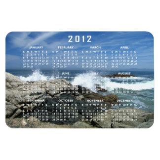 Pacific Crashing In; 2012 Calendar Rectangular Photo Magnet