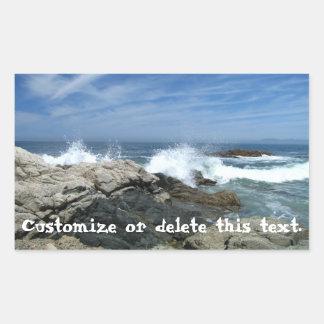 Pacific Crashing In; Customizable Rectangular Sticker