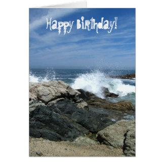 Pacific Crashing In; Happy Birthday Card