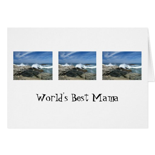 Pacific Crashing In; Happy Mother's Day Greeting Card