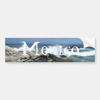 Pacific Crashing In; Mexico Souvenir Bumper Sticker