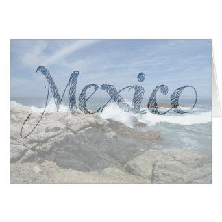 Pacific Crashing In; Mexico Souvenir Card