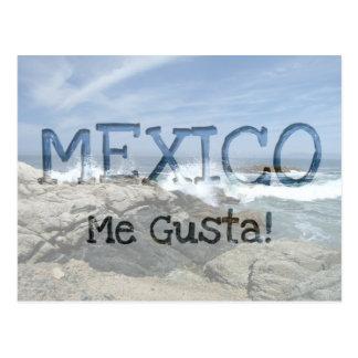 Pacific Crashing In; Mexico Souvenir Postcard