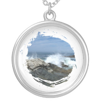 Pacific Crashing In Silver Plated Necklace