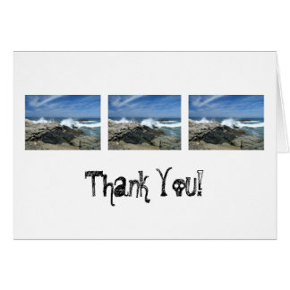 Pacific Crashing In; Thank You Card