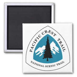 Pacific Crest Trail 2 Inch Square Magnet