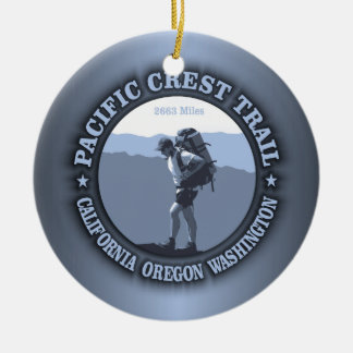 Pacific Crest Trail Double-Sided Ceramic Round Christmas Ornament