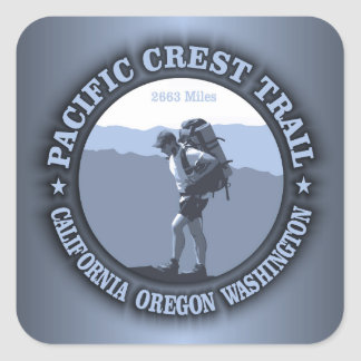 Pacific Crest Trail Square Sticker