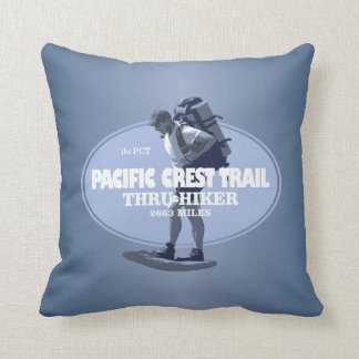 Pacific Crest Trail (TH) Throw Pillow