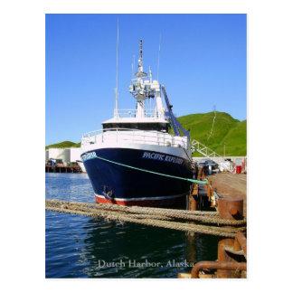 Pacific Explorer, Fishing Trawler in Dutch Harbor, Postcard