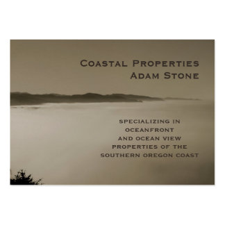 Pacific Fog coastline brown pearl chubby Large Business Cards (Pack Of 100)