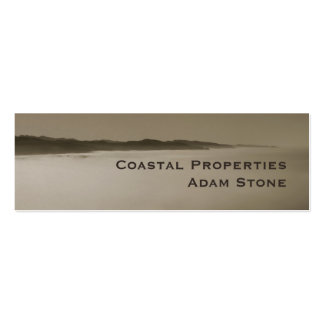 Pacific Fog coastline brown pearl skinny Double-Sided Mini Business Cards (Pack Of 20)